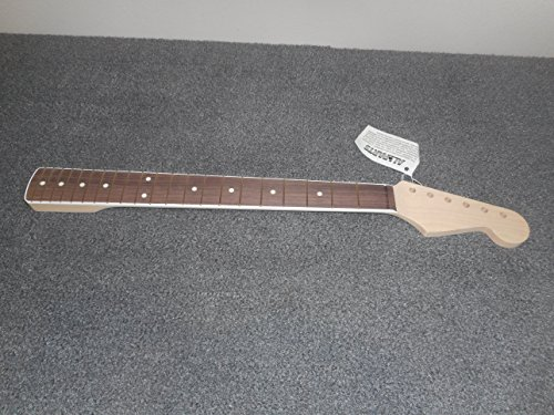 21 Fret Bound Maple Fender Strat Neck, Rosewood Fingerboard, (Bound Neck)