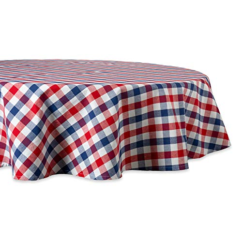 DII 100% Cotton, Machine Washable, Dinner, Summer & Picnic Tablecloth, 70