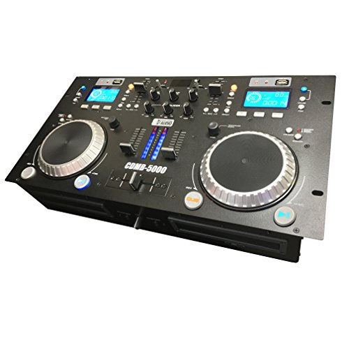 CDMB-5000 Dual Media Player Mixer Combo - CD - USB - MP3 -