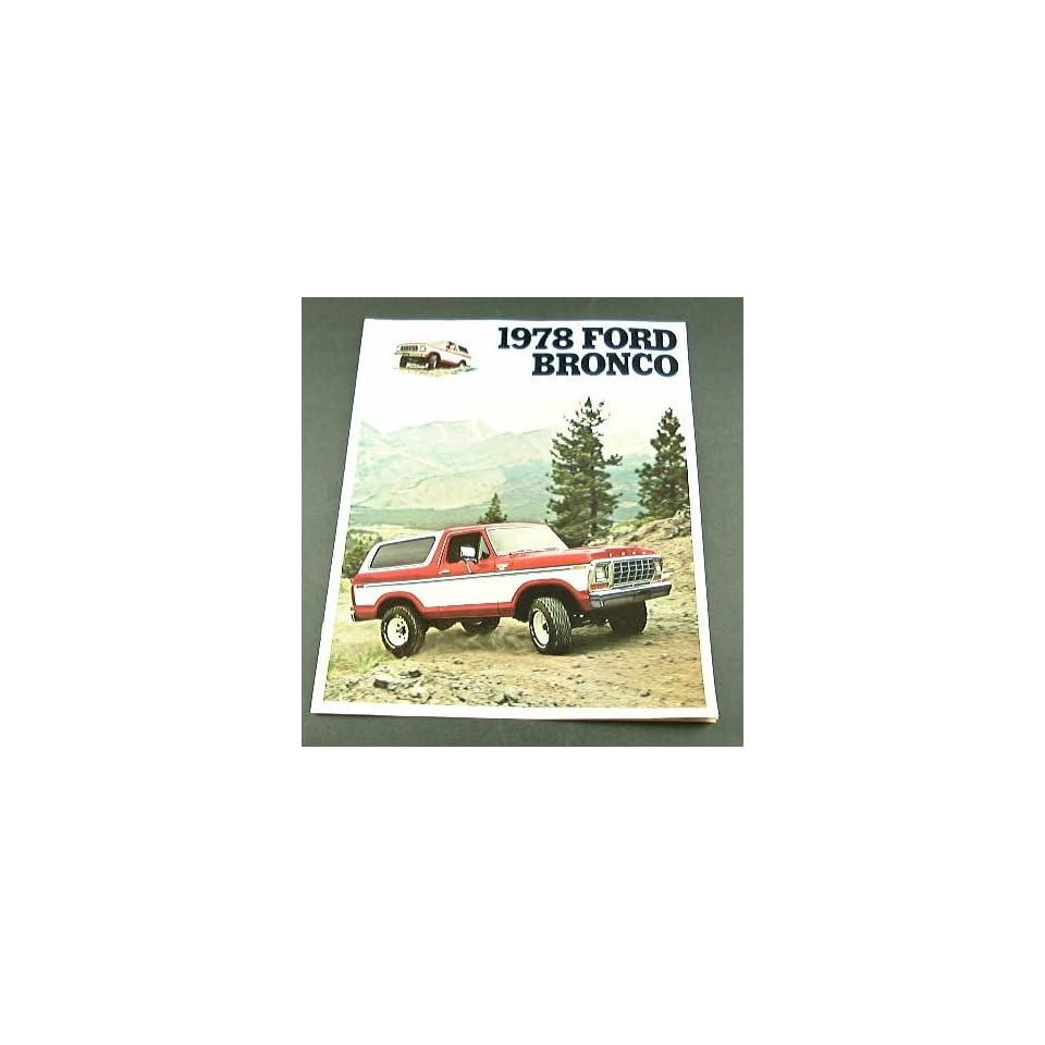1978 78 Ford BRONCO Truck BROCHURE Ranger XLT Custom