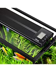 Hygger Auto On Off LED Aquarium Light Extendable 12-55 Inches 7 Colors Sunrise Sunset Full Spectrum Light Fixture for Freshwater Planted Tank Build in Timer