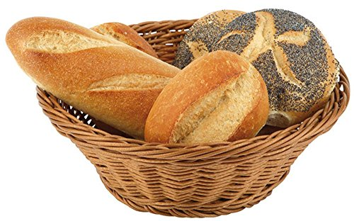Paderno World Cuisine Large Round Polyrattan Bread Basket, 15-Inch by Paderno World Cuisine