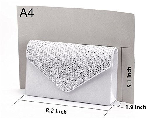 Rhinestone Clutch Purse Women Party Evening Envelope Sapphire Frosted Bridal Handbag Duamix a4qw7RfH