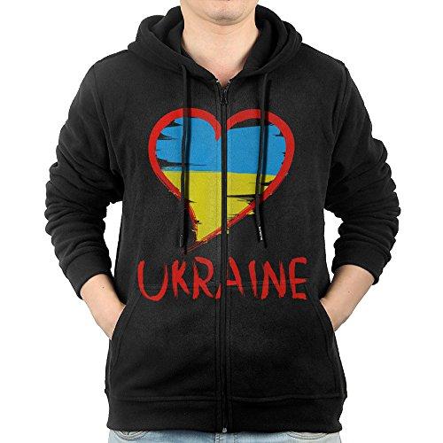Costume Europe Male National (SFG Men's Love Ukraine National Flag Leisure Casual Style Hoodie Sweatshirt Leisure Style S)