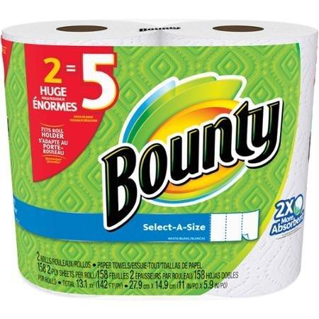 Bounty, select-a tamaño toallas de papel enorme rollos, 158 hojas, 2 rollos: Amazon.es: Hogar
