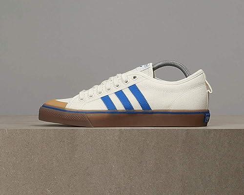new product 683fb 98e30 adidas Originals Men s Nizza Owhite Blue Gum4 Sneakers-10 UK India (