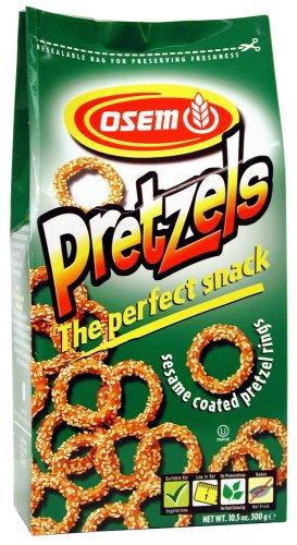 Osem Sesame Coated Pretzel Rings, 10.5 Ounce (Pack of (Sesame Pretzels)