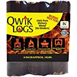 "Blackwood Charcoal Qwik Logs 8"" All Natural Fire Logs – 6 Pack (10lbs)"