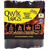 "Blackwood Charcoal Qwik Logs 8"" All Natural Fire Logs – 6 pack (10lbs)"