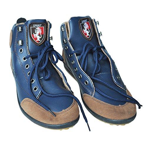 TOOGOO (R) Maenner Beilaeufige Winter Hohe Spitze Schuhe Velvet Warme Wasserdichte Stiefel Turnschuhe