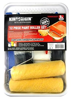 KingOrigin 30002F Paint Roller Kit 12-Pieces