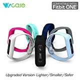 WoCase Fitbit One Accessory Wristband, Light Turquoise