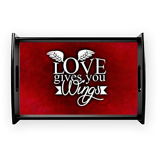 Small Serving Tray Love Gives You Wings by Truly Teague