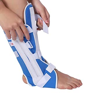 Amazon.com : Foot Drop Brace Ankle Support Ankle Orthosis Brace Adjustable Knee Joint Support Elastic Ankle Wrap(S) : Beauty