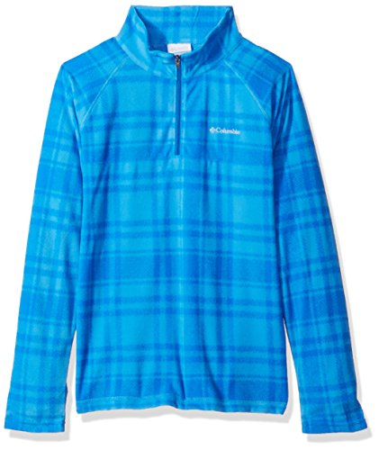 Columbia Boys' Little Glacial Ii Printed Fleece Half Zip Jacket, Peninsula Plaid X-Small