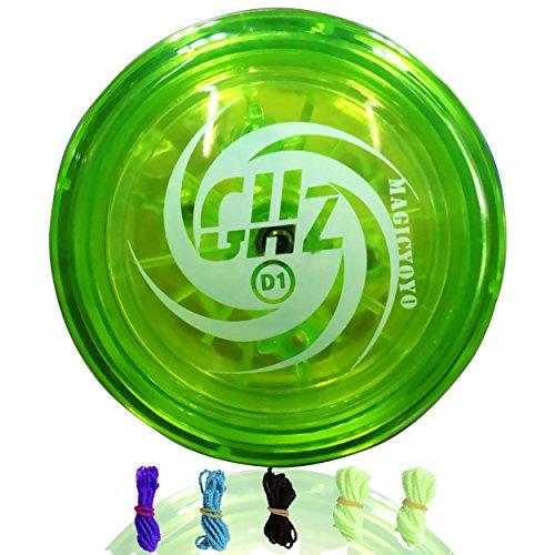 MAGICYOYO Loop Yoyo D1 GHZ 2A Yo-yo Durable Poly Carbonate Plastic YoYo Green + Yoyo
