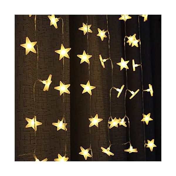 Uping Stringa di Luci, Catena Luminosa, 30 LED Stelle, 4,65 Metri, Decorativa da Interni e Esterni, anche per Festa, Giardino, Natale, Halloween, Matrimonio 6 spesavip