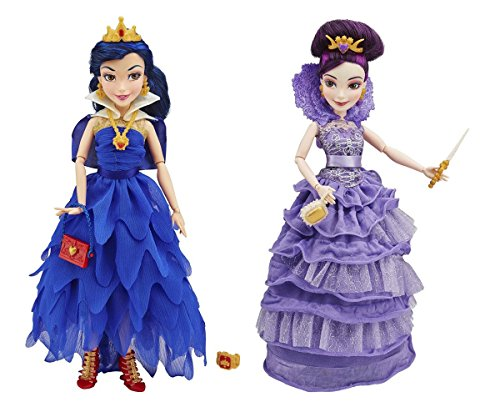Mal Descendants Coronation Costume (2 Pack Bundle Disney Descendents Villain Genie Chic : Evie and Mal Descendents IE Doll Isle Of The Lost.)