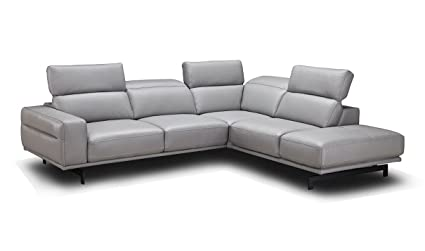 Amazon Com J M Furniture Davenport Leather Right Facing Sectional
