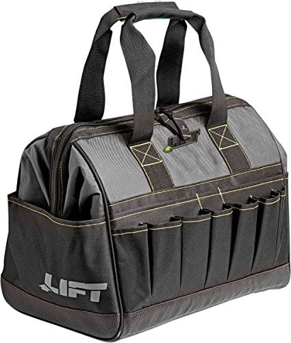 LIFT Safety ACW-6Y Black Grey 15 x 8 x 12 Wide Open Tool Bag