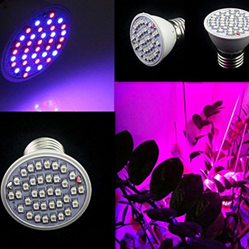 Staron 3W 36 LED Grow Lights, Indoor Plants Flower Veg Full Spectrum Growing Lights (White)