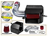 Scion FR-S Air Filters & Components - Cold Air Intake System with Heat Shield Kit + Filter Combo RED Compatible For 13-15 Scion FR-S/Subaru BR-Z L4 2.0L