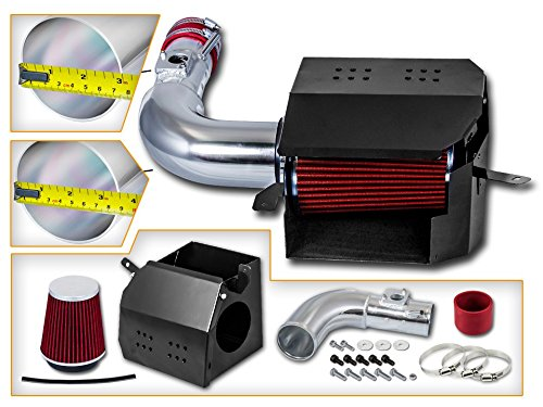 Cold Air Intake System with Heat Shield Kit Filter Combo RED Compatible For 13-15 Scion FR-S//Subaru BR-Z L4 2.0L