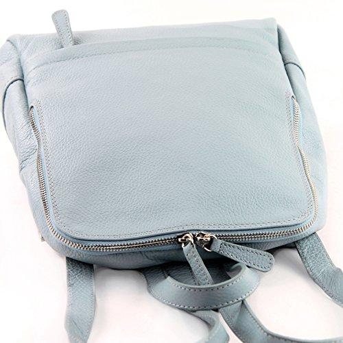 sac dos en dames en dos sac dos sac Citybag T138 Eisblau cuir Sac à cuir à à wqCP44