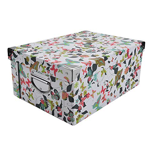 pretty storage boxes slpr decorative storage cardboard. Black Bedroom Furniture Sets. Home Design Ideas