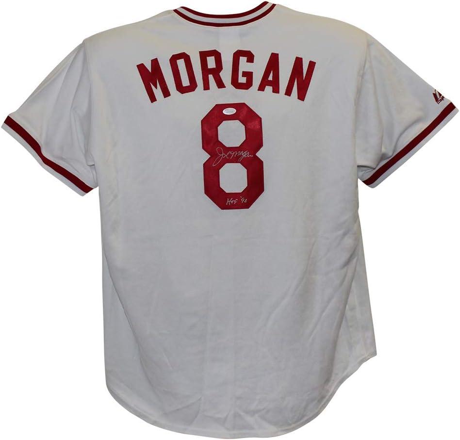 Amazon.com: Joe Morgan Autographed Cincinnati Majestic White XXL ...