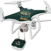 Skin For DJI Phantom 4 Quadcopter Drone – Born To Quilt | MightySkins Protective, Durable, and Unique Vinyl Decal wrap cover | Easy To Apply, Remove, and Change Styles | Made in the USA