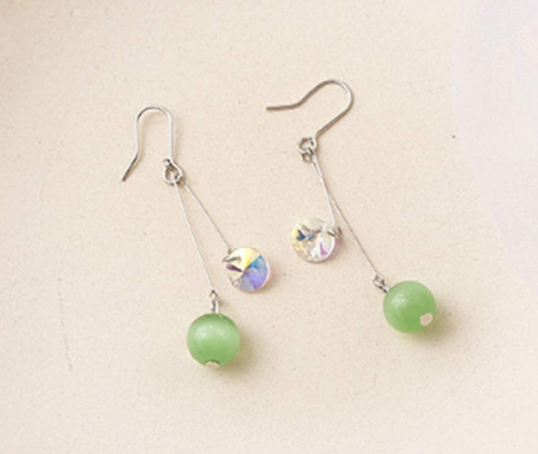 También incluye Pendientes para mujer Verde menta Geométrico Largo Flujo de perlas Madera Flor Oreja Uñas Aguacate Verde Pendiente de cristal