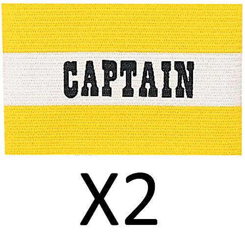 Champion Youth Soccer Captains ARM Band Available IN Red Blue Yellow New (2Pack) - Referee Armband
