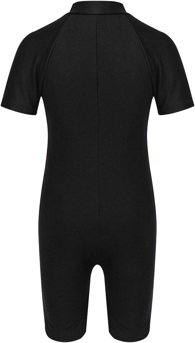 Sun Protection YiZYiF Kids Boys One Piece Zip Front Thermal Shorty Wetsuit for Swimming//Diving//Snorkeling//Surfing UPF 50