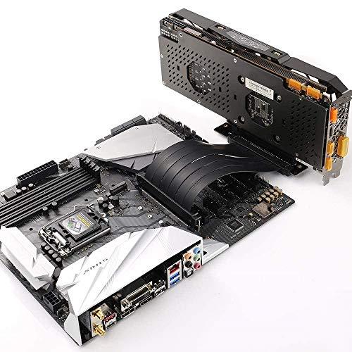 Tarjeta vertical PCI Express de alta velocidad PCI-E 3.0 x 16 Cinta extensora de tarjeta vertical Cable de extensión flexible de 90 grados para tarjetas gráficas de computadora (30 CM)