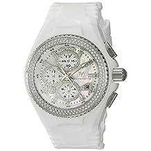 Technomarine Women's TechnoMarine 40mm White Silicone Band Steel Case Quartz Silver-Tone Dial Watch 115241