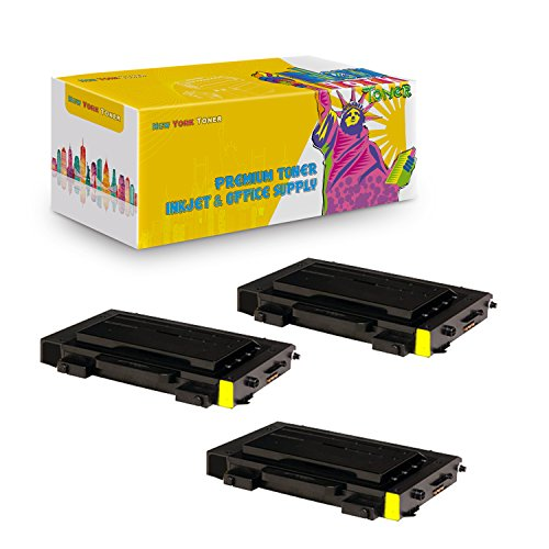New York TonerTM New Compatible 3 Pack CLP-510D5Y High Yield Toner For Samsung - CLP-510N | CLP-510NG . -- Yellow (510n Printers High Yield)