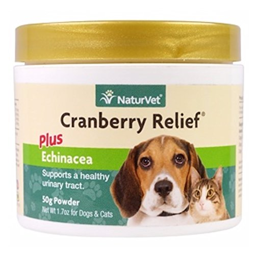 NaturVet Urinary Health Supplement Powder for Dogs and Cats, Healthy Bladder & Urinary Tract Support with Cranberry & Echinacea, Made