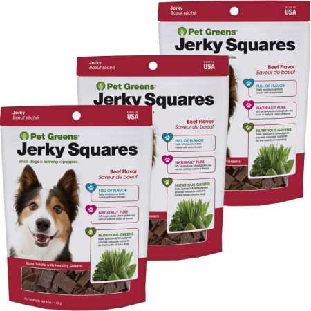 Pet Greens Jerky Dog Treats Savory Beef 3PACK (12 oz)