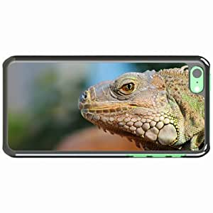 iPhone 5C Black Hardshell Case reptile muzzle profile Desin Images Protector Back Cover