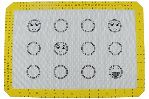Homankit Silicone Baking Mat with Measurements - 4 Kinds of Facial Expressions Design - 11 5/8