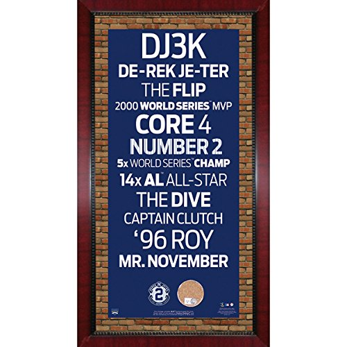 derek-jeter-subway-sign-with-authentic-game-used-dirt-custom-framed-16-inch-x-32-inch-7331-style