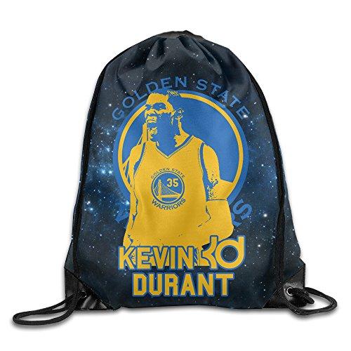 [LINNA Golden State #35 KD Logo Basketball Durable Drawstring Sackpack Camping Valise Bag] (Matt Barkley Costume)