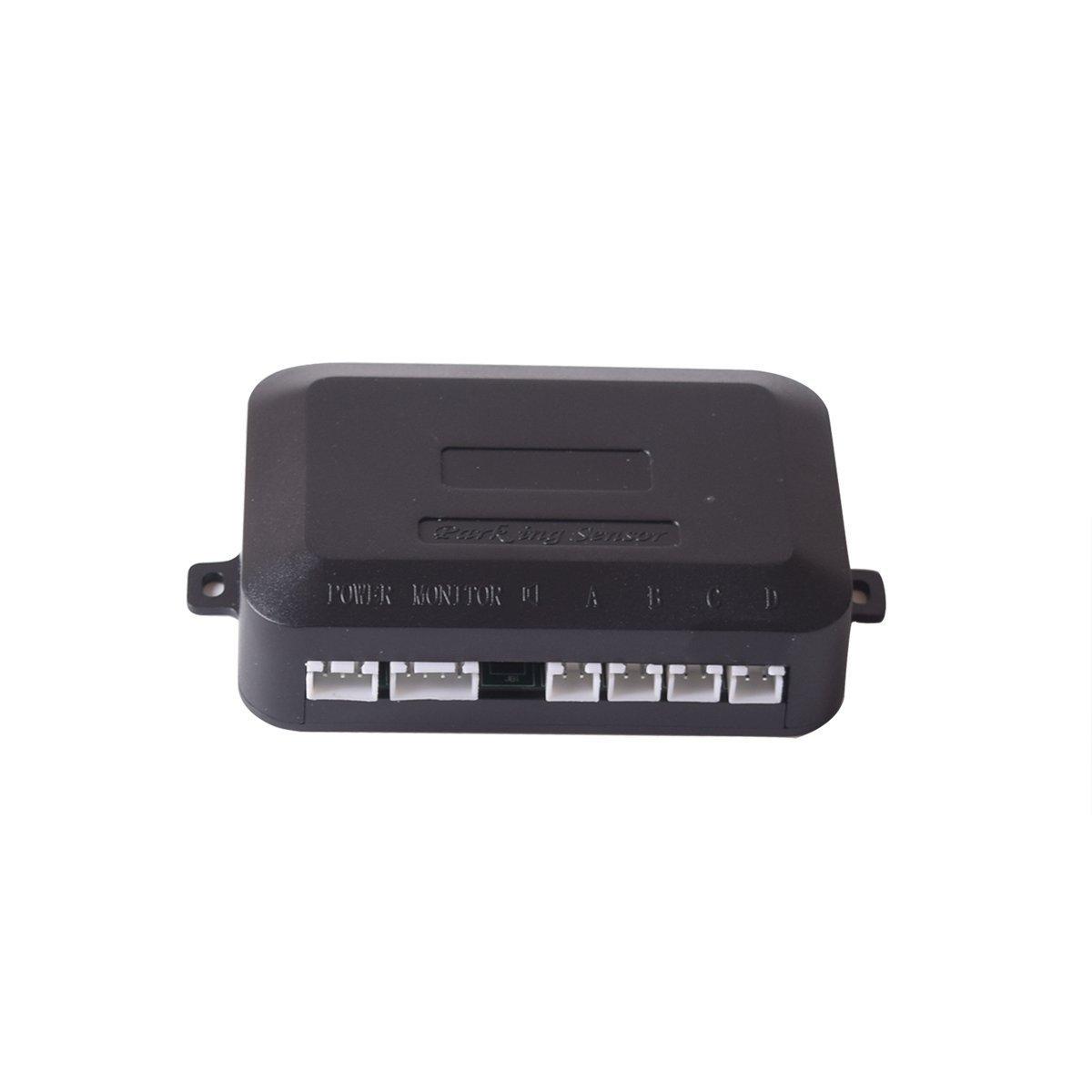 Fiat Red Color Sound Warning LED Distance Display EKYLIN Car Reverse Parking Radar System with 8 Parking Sensors Distance Detection