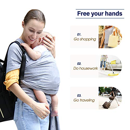 Black Maydolly Baby Slings Free Hands Baby Wrap Perfect Baby Shower Gift