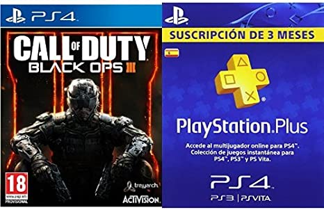 Call Of Duty: Black Ops III + PlayStation Plus - Tarjeta de ...