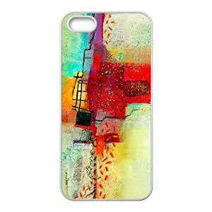 iPhone 5 5s Cell Phone Case White abstract PaintingSLI_795245