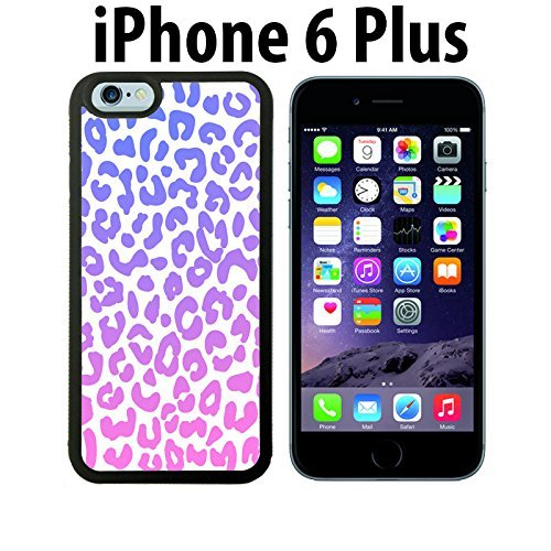 Pastel Cheetah Pattern Custom made Case/Cover/skin FOR iPhone 6 Plus - Black - Rubber Case ( Ship From - Charger Iphone 5s Cheetah