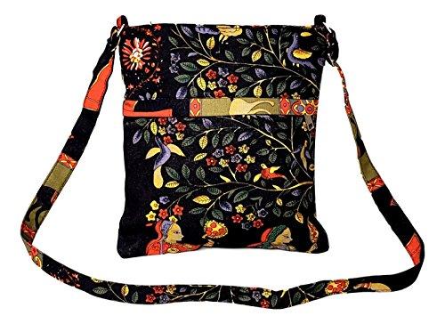 the Girls Crossbody Teens for Canvas Bag Boho Printed or Over Women Asian Shoulder OqpEfXPn