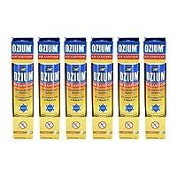Ozium Smoke & Odor Eliminator Car & Home Air Sanitizer / Freshener, 3.5oz Spray Vanilla Scent - Pack of 6